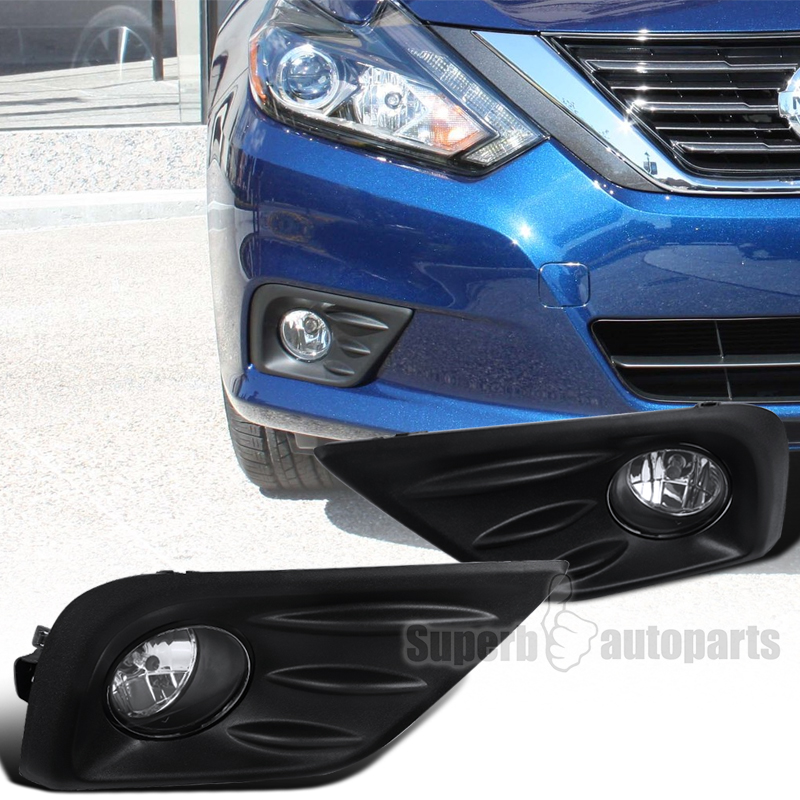 Captivating For Nissan 2016 2017 Altima Clear Front Fog Lamps Bumper Driving Lights +Switch
