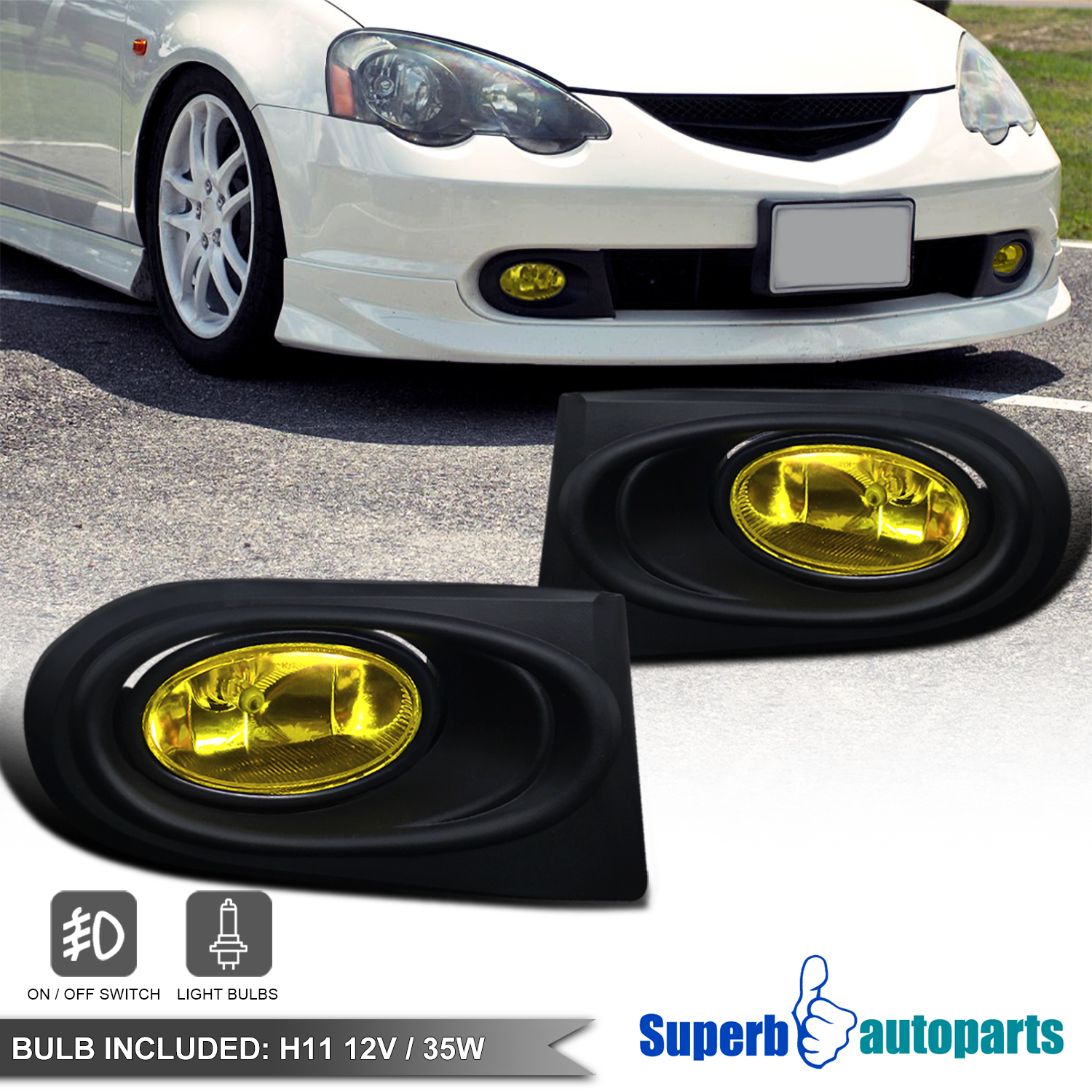 2002 Acura Rsx Repair Prices: 2002-2004 Acura RSX DC5 Type-S Driving Fog Lights W/Switch