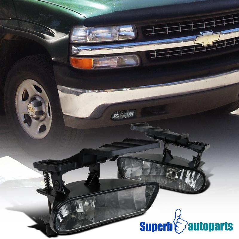 1999 2002 chevy silverado 00 06 tahoe suburban smoke fog lights bumper ls ebay
