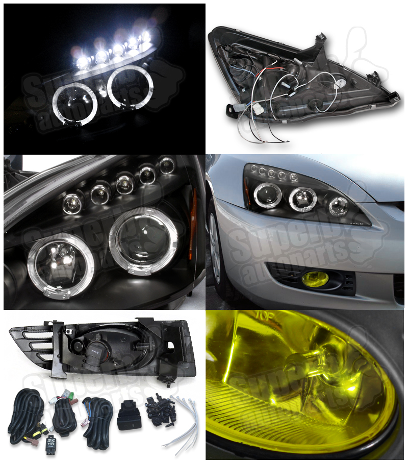 2002 honda accord headlight wiring diagram 2003 honda accord headlight wiring harness for 2003-2005 honda accord 2dr coupe projector headlight ... #4