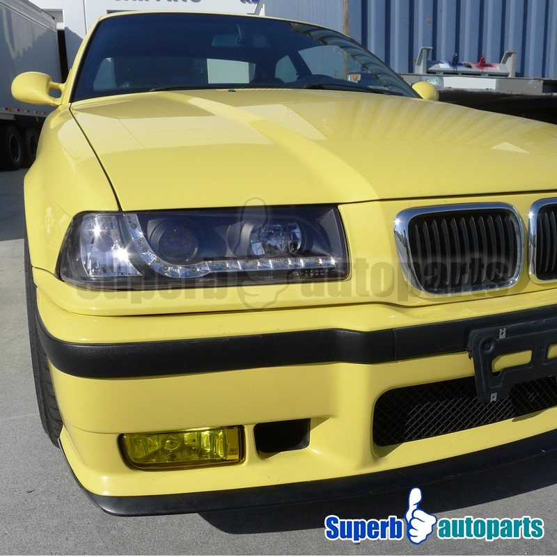 1992 1998 Bmw E36 M3 Coupe Projector Headlights W Led Drl