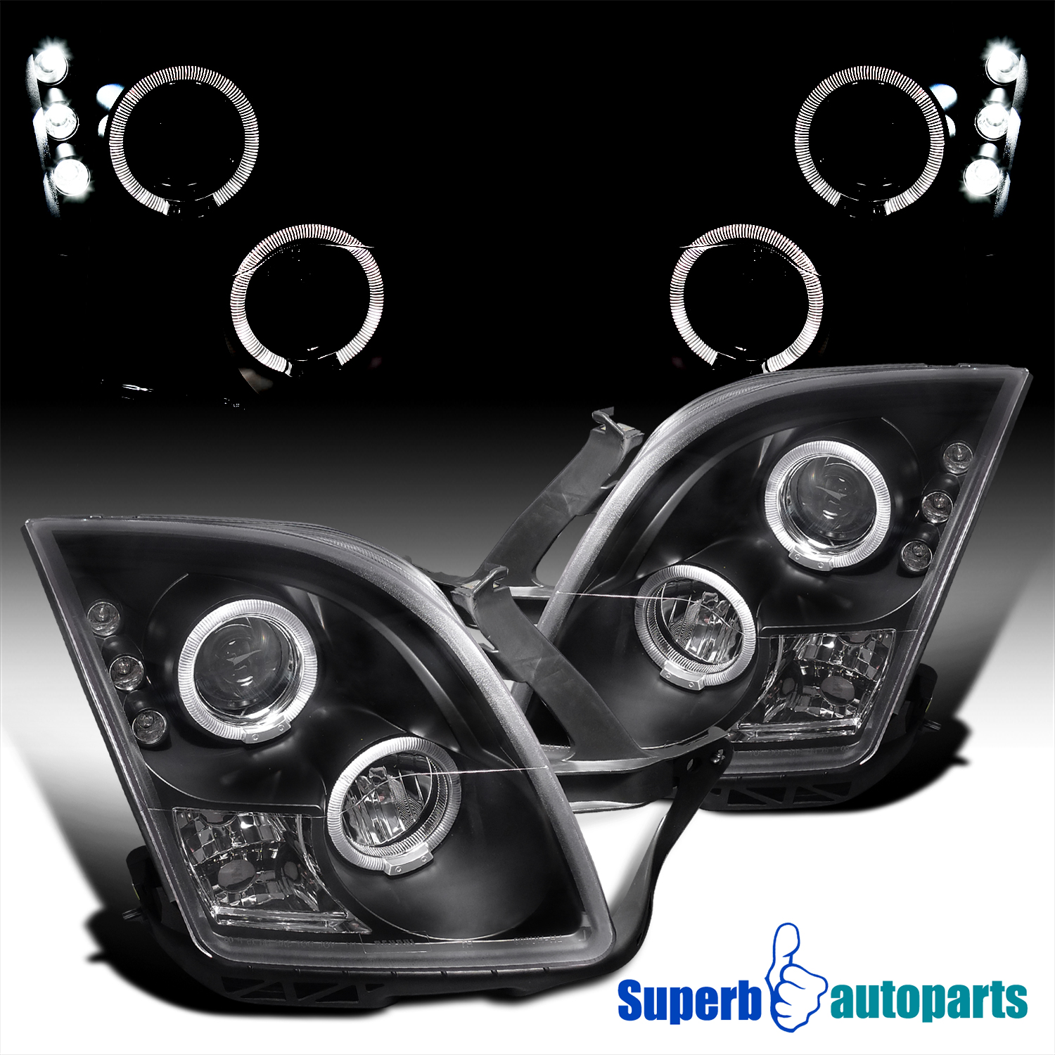 For 2006 2009 Ford Fusion Led Halo Rim Projector