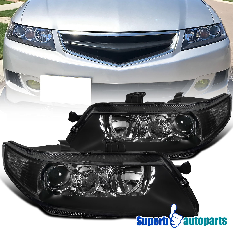 For 2004-2005 Acura TSX Headlights Projector Head Lamp