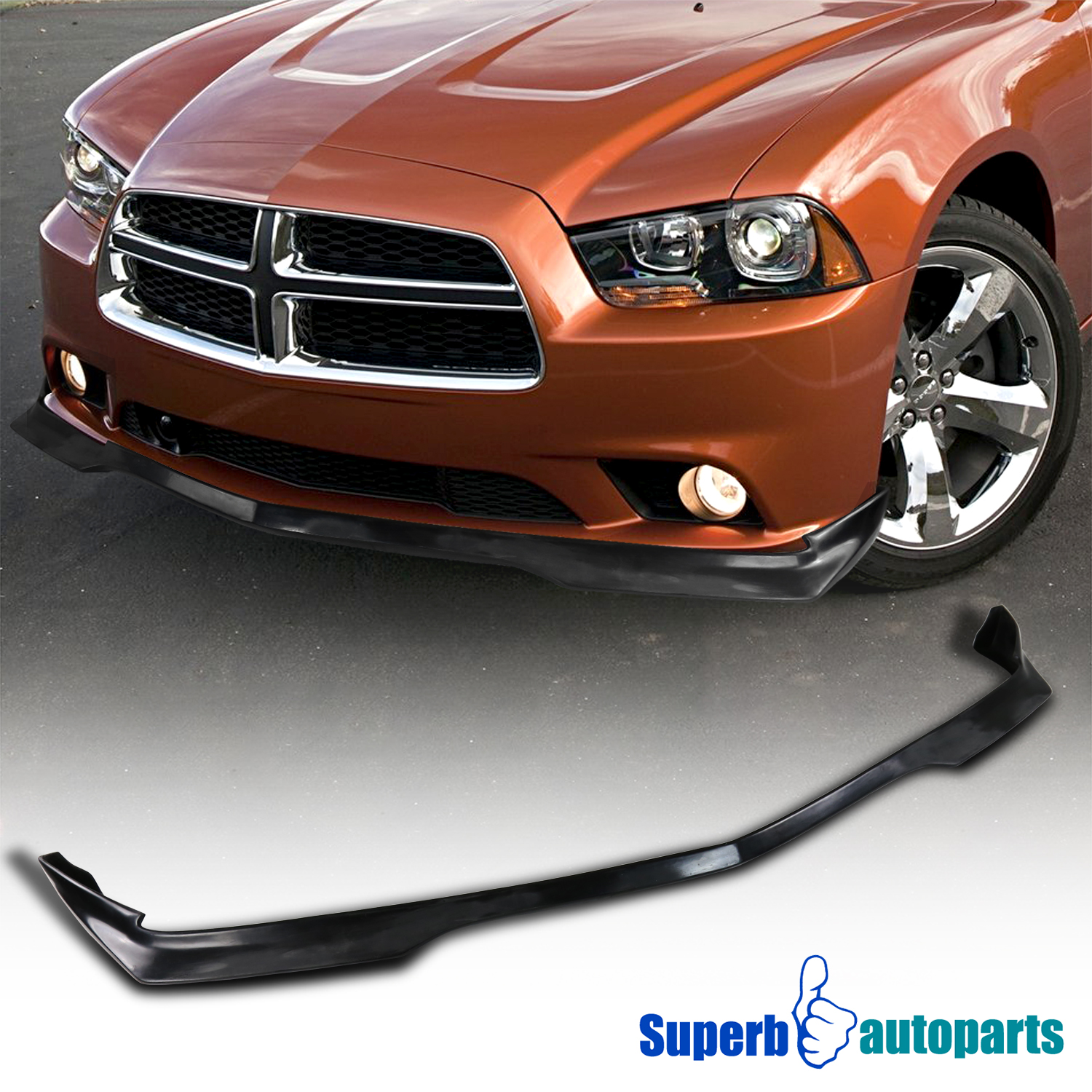 11 14 Dodge Charger Ra Style Lower Front Bumper Lip Spoiler Black Pu
