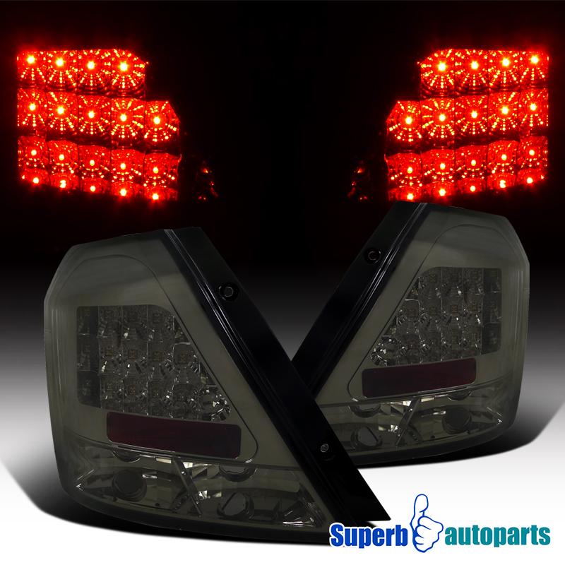 2004 2008 Chevy Aveo Led Brake Tail Lights Rear Lamps Smoke Lens