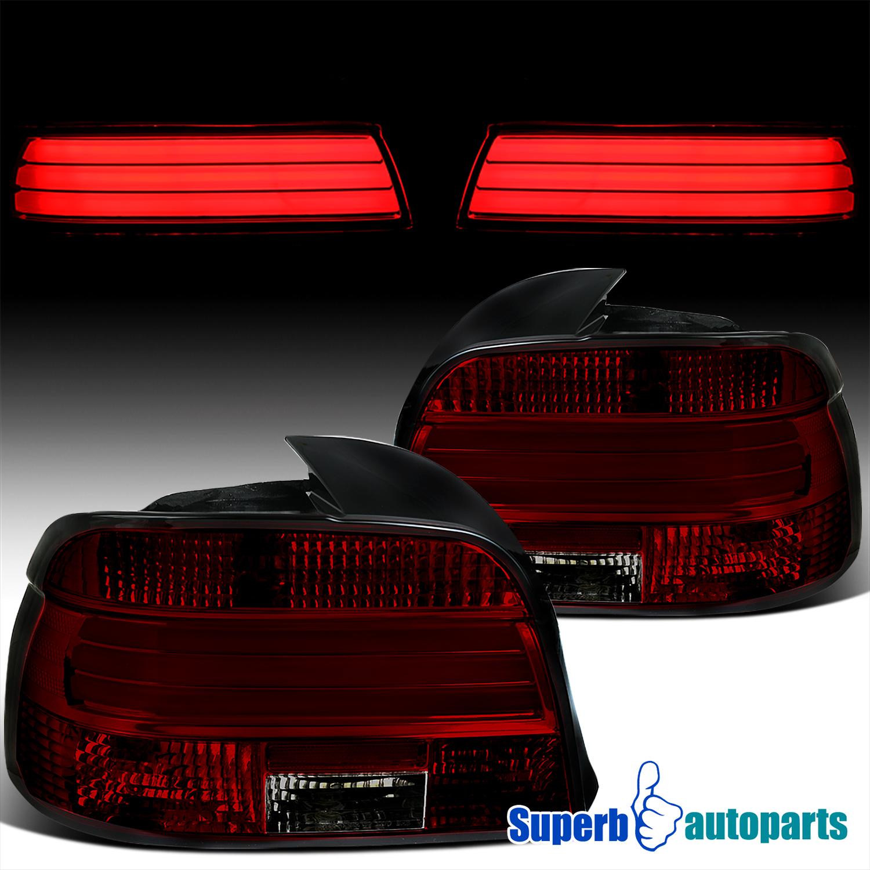 2001-2003 BMW E39 5-Series M5 525i 530i 540i Red//Clear Lens LED Tail Lights