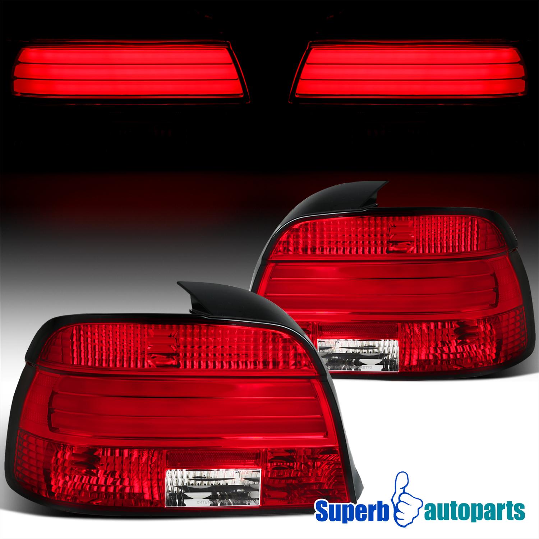 97 00 BMW E39 5 Series 528i 540i LED Strip Bar Tail Light Rear Brake Lamps Red