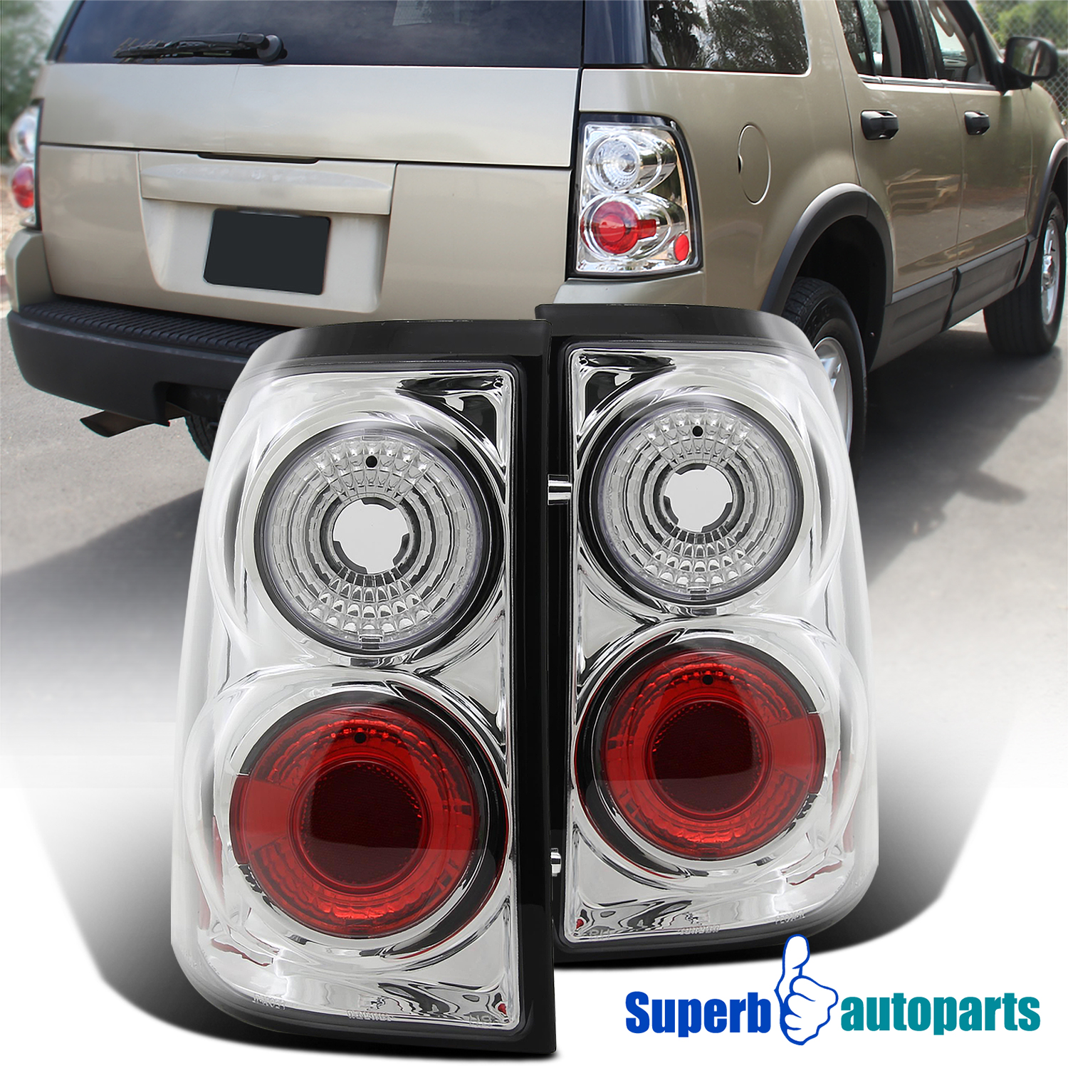 Details About For 2002 2005 Ford Explorer Replacement Tail Brake Lights