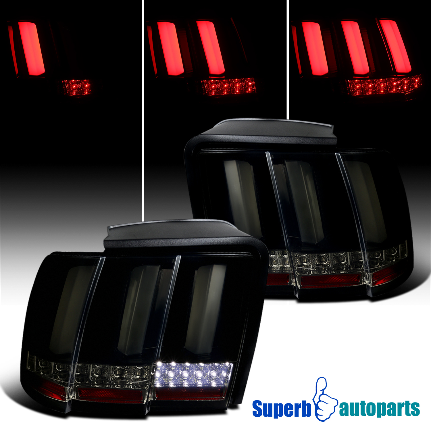 seq led 1999 2004 ford mustang sequential led tail lights. Black Bedroom Furniture Sets. Home Design Ideas