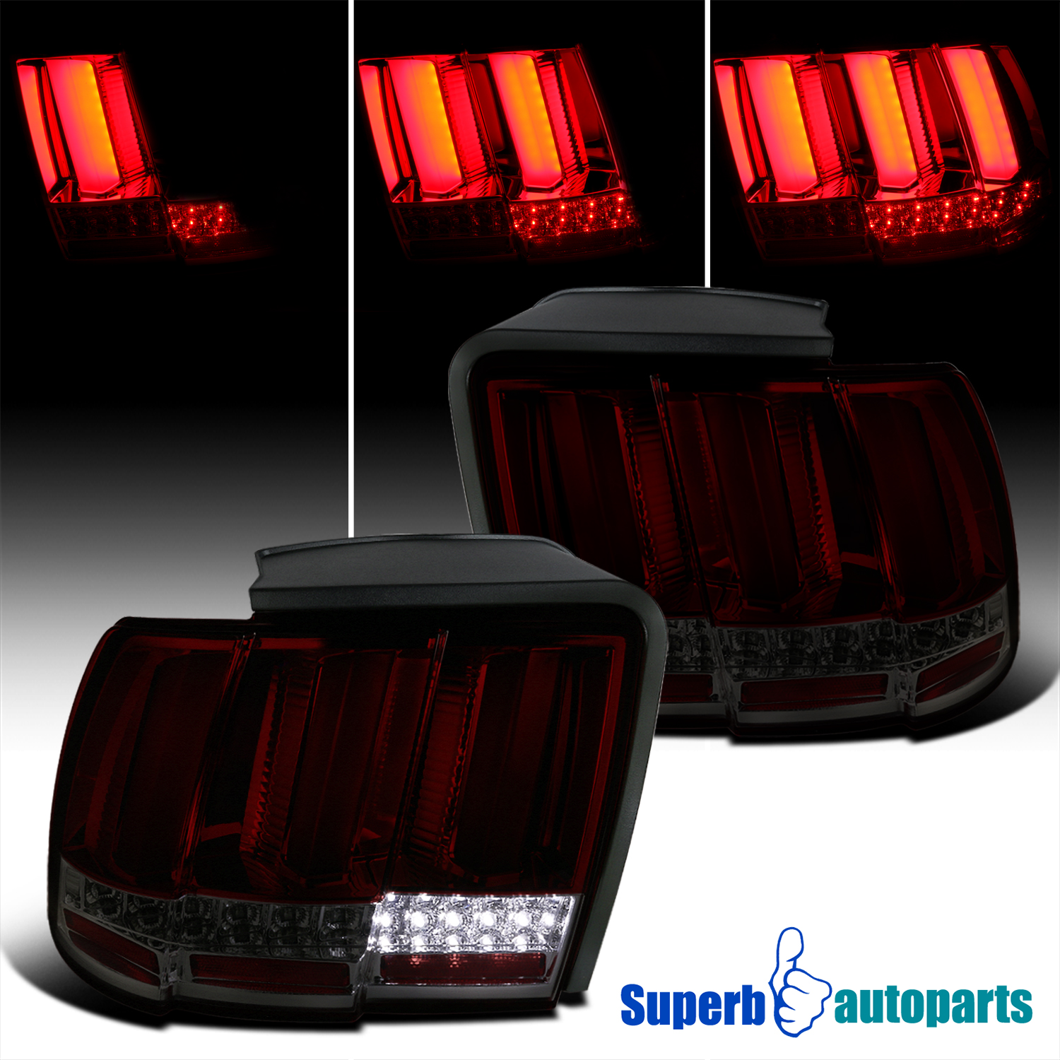 seq led 1999 2004 ford mustang sequential led tail brake. Black Bedroom Furniture Sets. Home Design Ideas