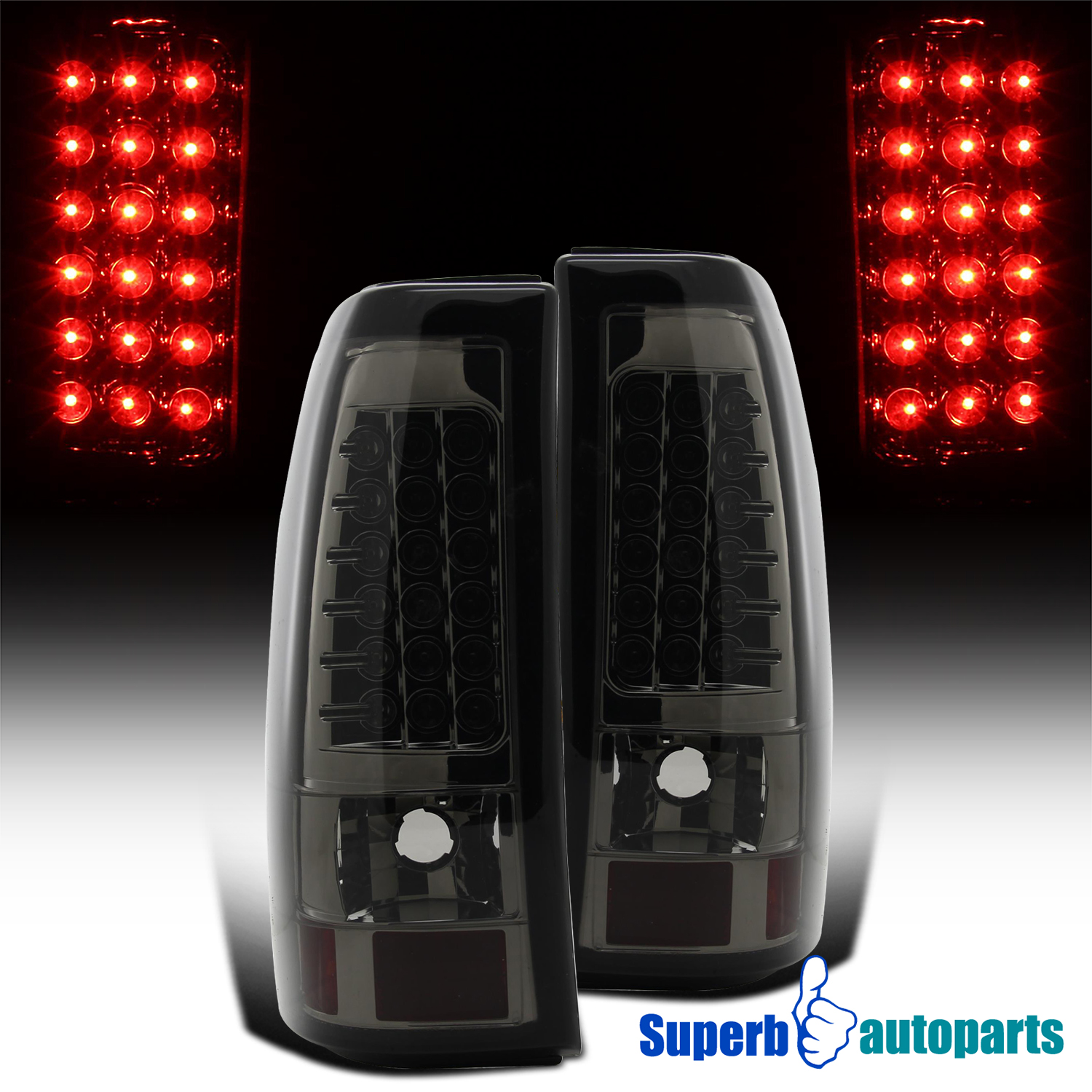 Details About For 2003 2006 Chevy Silverado Led Tail Lights Brake Lamps Smoke