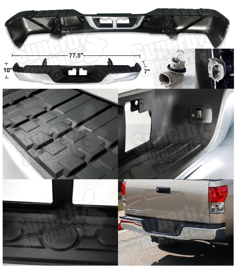 2007 2013 toyota tundra s s rear bumper step w top pad chrome ebay. Black Bedroom Furniture Sets. Home Design Ideas
