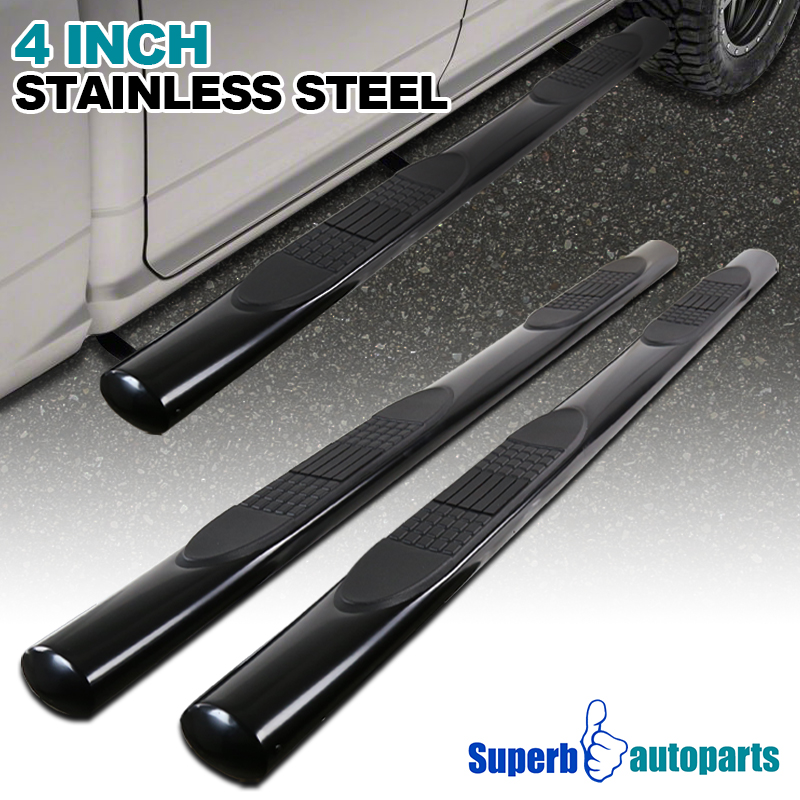 Super Crew Cab >> Details About For Black 04 08 Ford F150 Super Crew Cab 4 Oval Side Step S S Running Boards