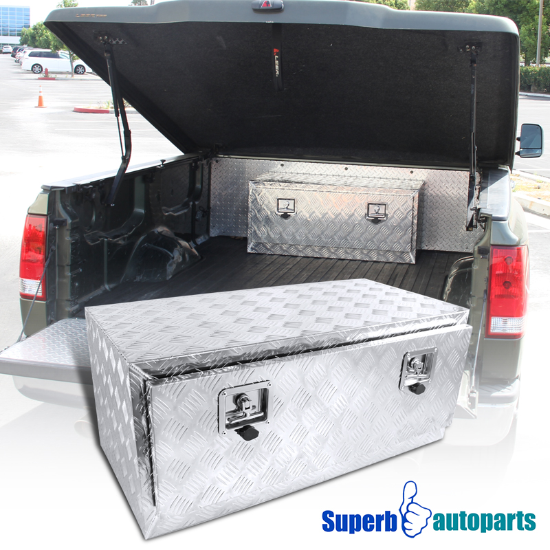 In Bed Tool Box >> Details About 36 X18 X16 Truck Under Bed Tool Box Underbody Storage Trailer Pickup W Lock