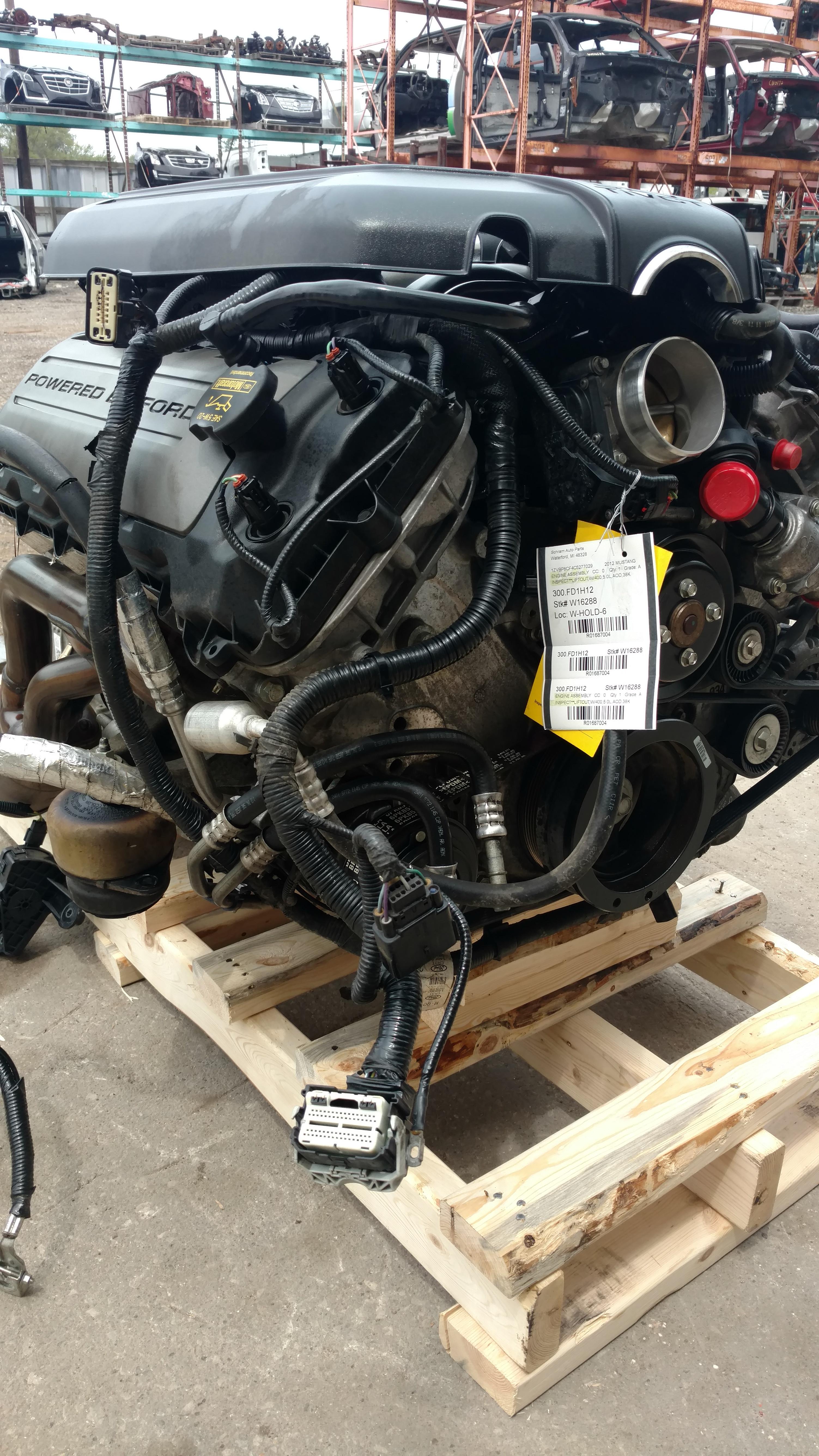 2013 ford mustang 5 0l coyote engine transmission lift out project motor ebay. Black Bedroom Furniture Sets. Home Design Ideas