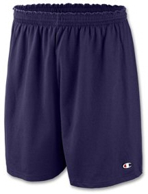 Mens Champion Cotton Jersey Basic Gym Shorts 6 in   82134