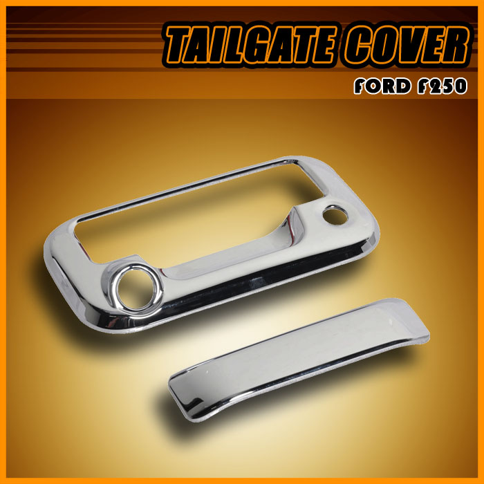 08 F250 F350 Superduty Explorer Chrome Tailgate Cover w Key Camera Hole