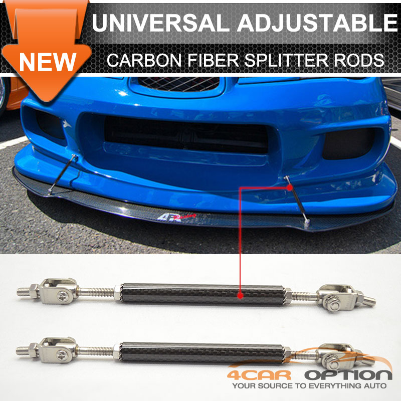 Details about Fits Honda Carbon Front Rear Splitter Rod Support Stabalizer  Length (5 5-8In)