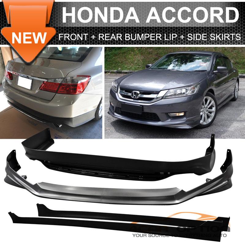 13-15 Accord 4Dr MODULO Front + Rear Bumper Lip + Side