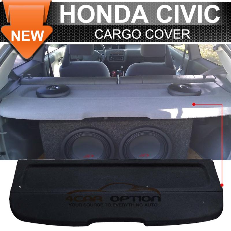 Fits 92-95 Honda Civic EG OE Factory Style Black Rear