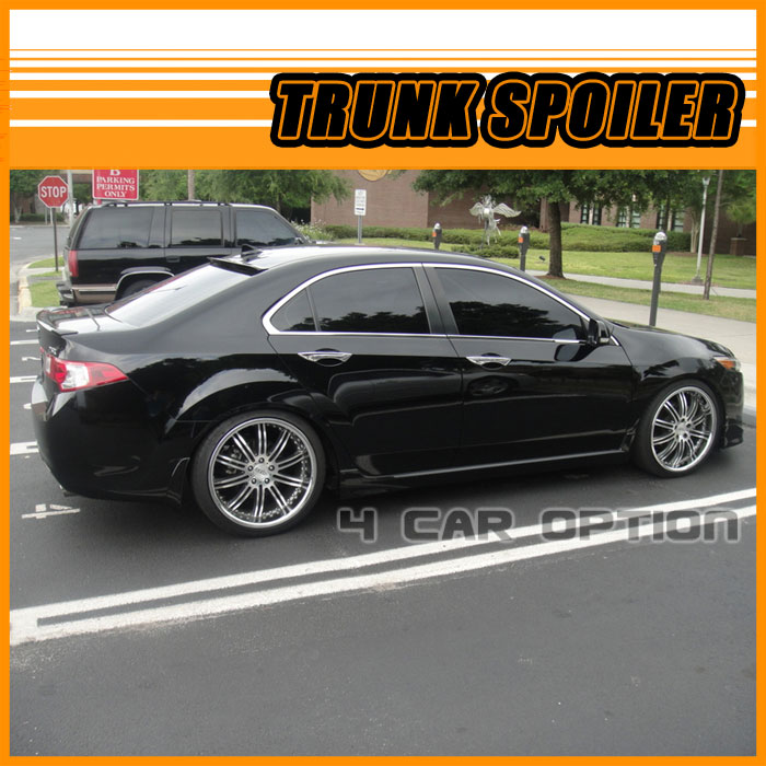 Acura TSX 09 10 Rear Trunk Spoiler Painted NH731P Crystal