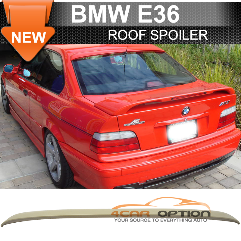ABS Fits 99-05 BMW E46 3-Series M3 AC Style Unpainted Roof Spoiler