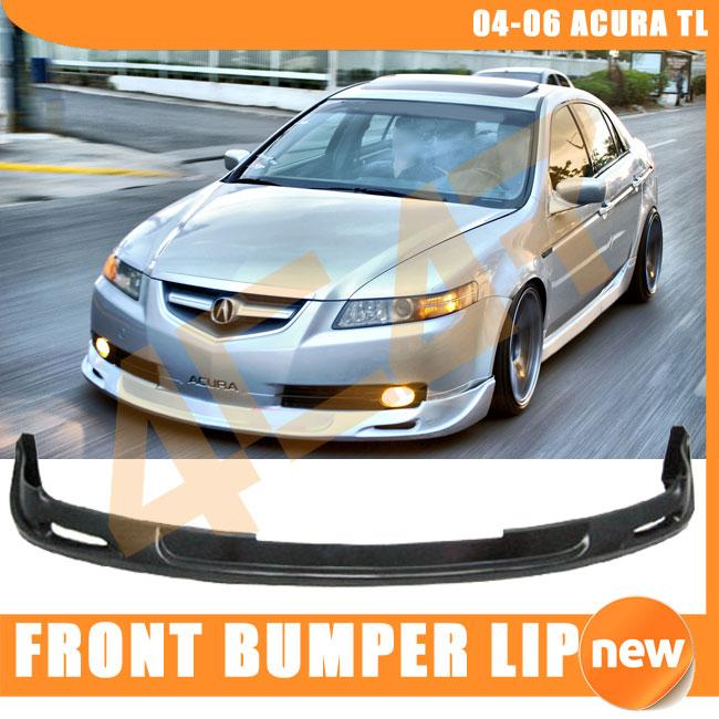 04-06 ACURA TL MUG URETHANE FRONT BUMPER LIP + CARBON