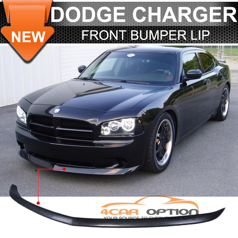 Fits 05-10 Dodge Charger OE Factory Style Front Bumper Lip Unpainted