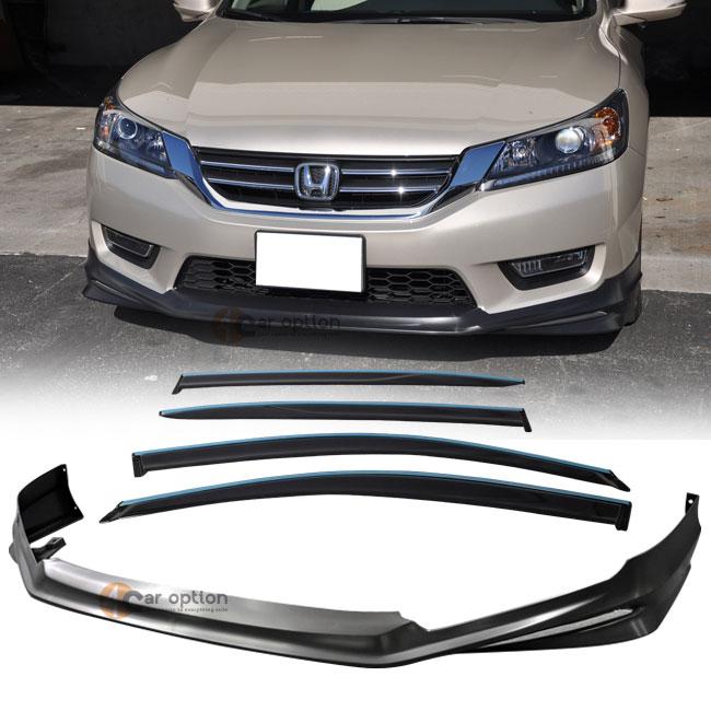 Fits 13-15 Honda Accord 4Door OE Black PP Front Bumper Lip