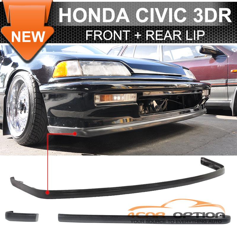 90-91 Honda Civic 3Dr Hatchback OE Front+Ikon Rear Bumper