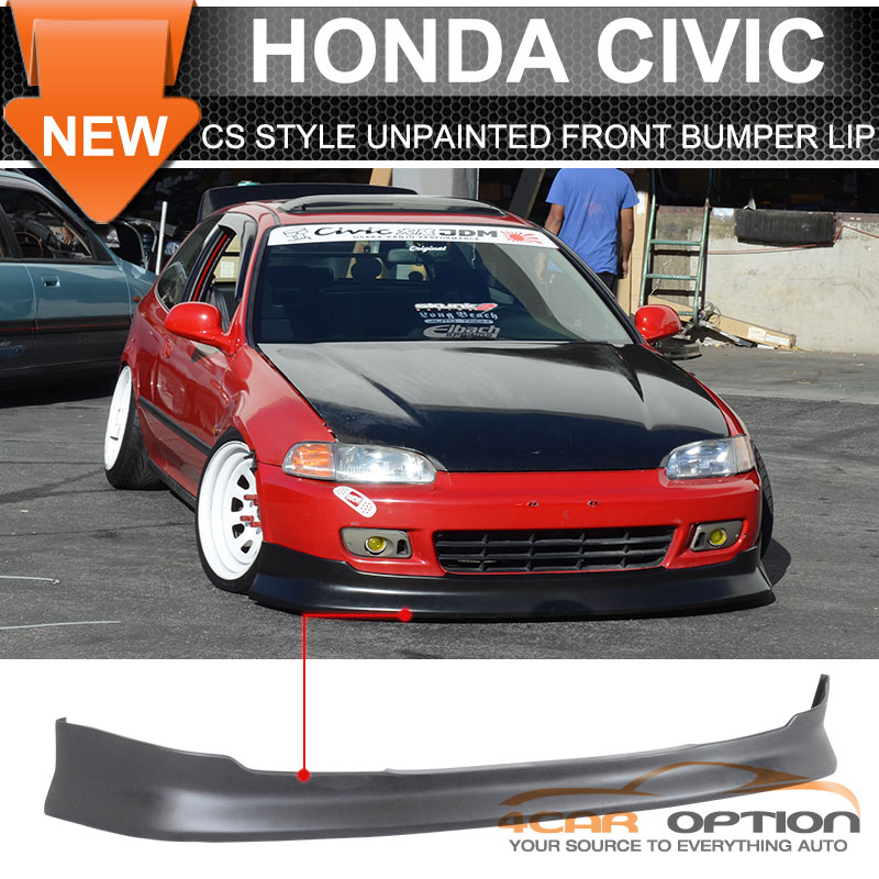 Fits 92 95 Honda Civic Eg 2 3dr Cs Front Bumper Lip