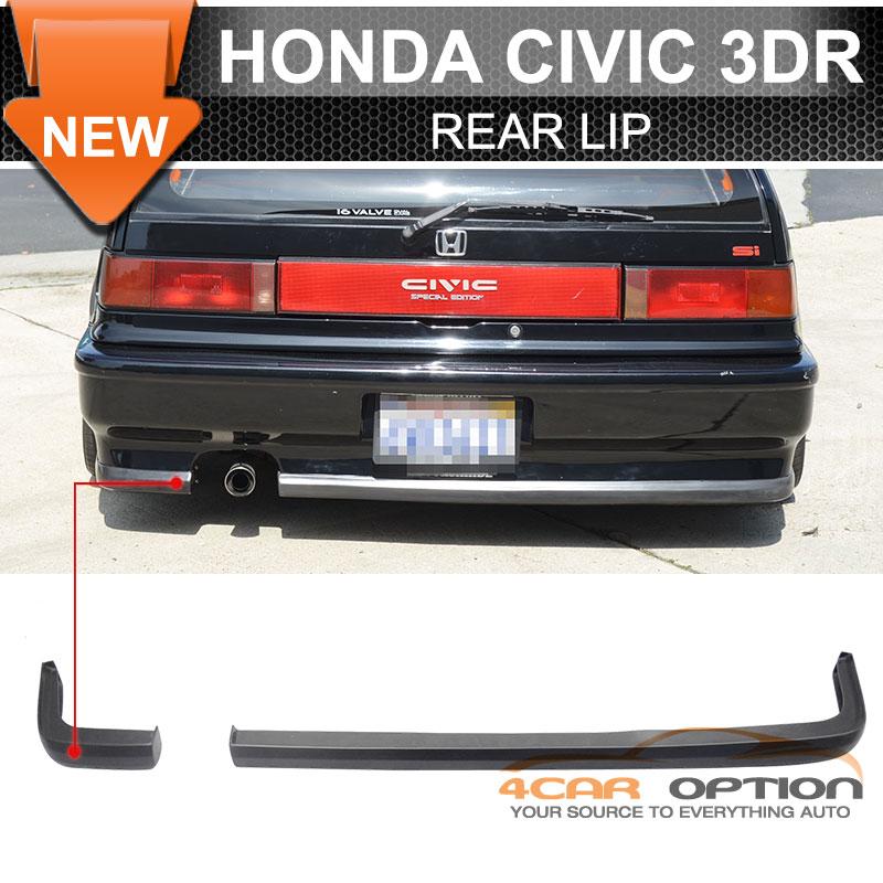 88-91 Honda Civic 2Dr 3Dr Hatchback JDM Ikon 2Pc Rear