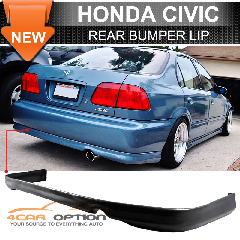 Civic Classic Sedan Black Olx: Fits 96-98 Honda Civic 2 4 Door (Pu) Urethane Rear Bumper