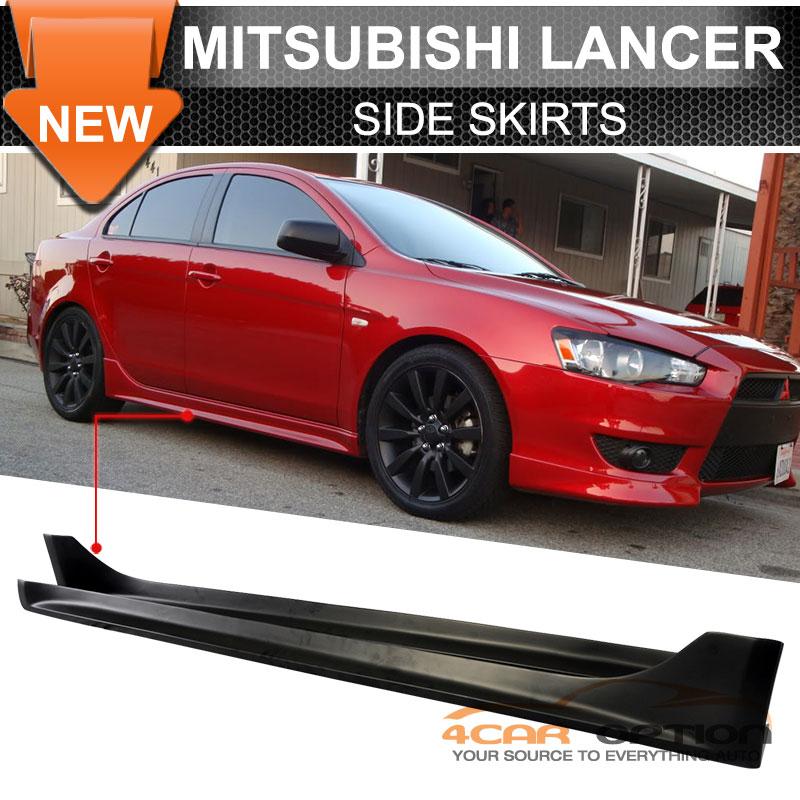 Fits 08 17 Mitsubishi Lancer Jdm Style Side Skirt Spoiler