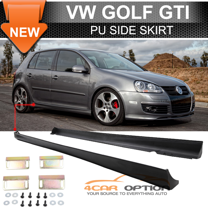 Fits 06 09 Vw Golf Gti Mkv Mk5 Mk6 Side Skirts Lip V Style