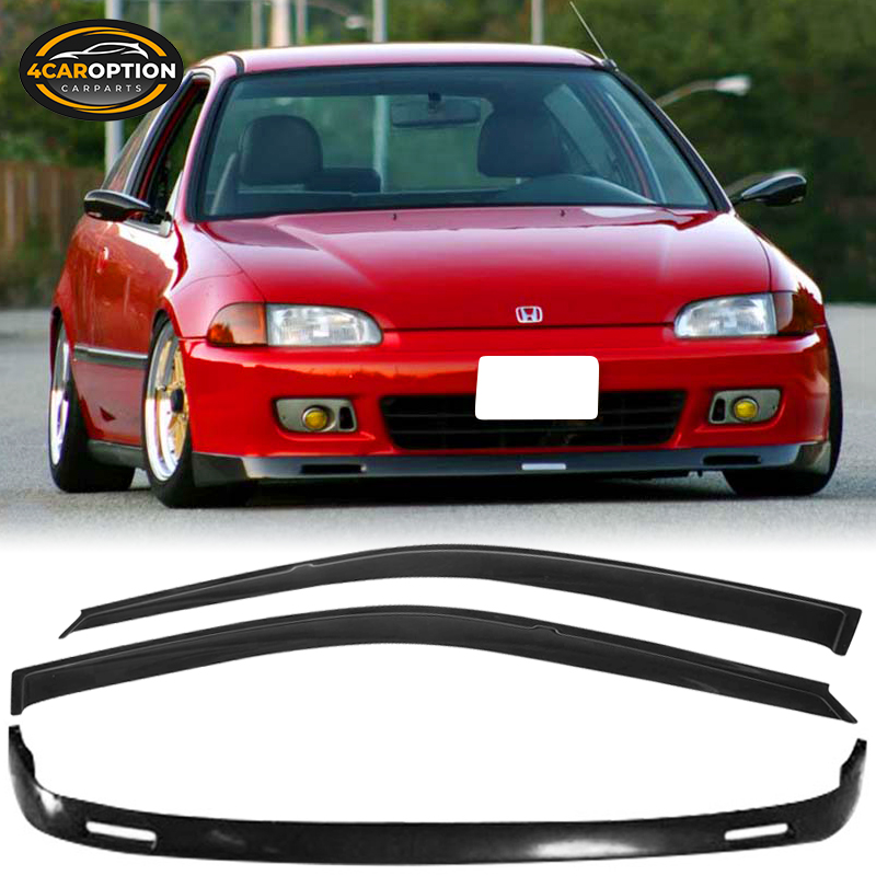 Exterior Accessories 1993 1994 bys Style PU Black Front Lip ...