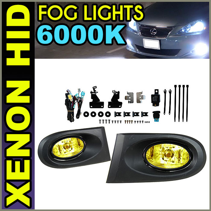 Fits Xenon 02-04 Acura RSX DC5 JDM Yellow Lens Fog Lights