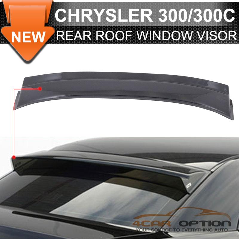 Fits 05-10 Chrysler 300 300C Rear Roof Window Visors