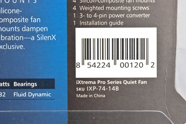 NEW SilenX IXP-74-09 IXTREMA 120 120X25 9dBA 38CFM Fluid Dynamic Bearing Fan