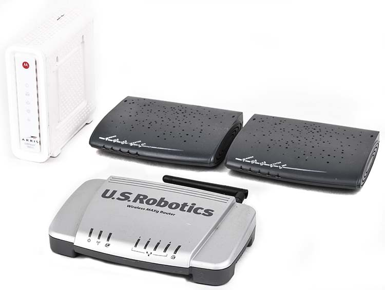 Details about Lot4 Hitron BRG-35503 Arris SB6241 Surfboard US Robotics  USR5461 Wireless Router