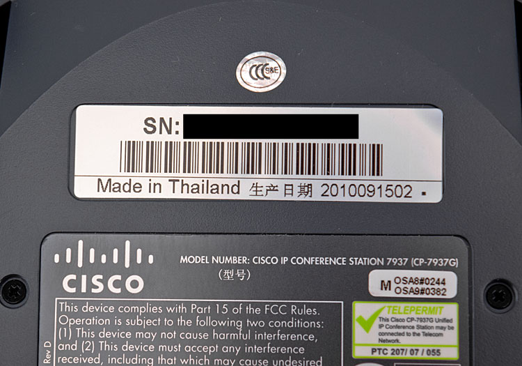 Cisco/Polycom 7937 Digital Unified IP Conference Station