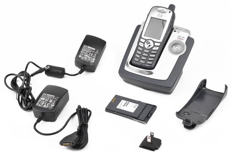 CISCO 7921 Unified Wireless IP Phone CP-7921G-A-K9 VOIP w// Cradle AS IS