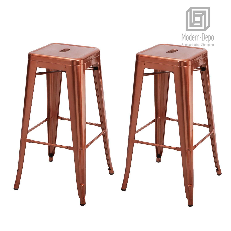 Strange Details About 30 Inch Metal Bar Stools High Backless Stackable Kitchen Stools Set Of 2 Inzonedesignstudio Interior Chair Design Inzonedesignstudiocom