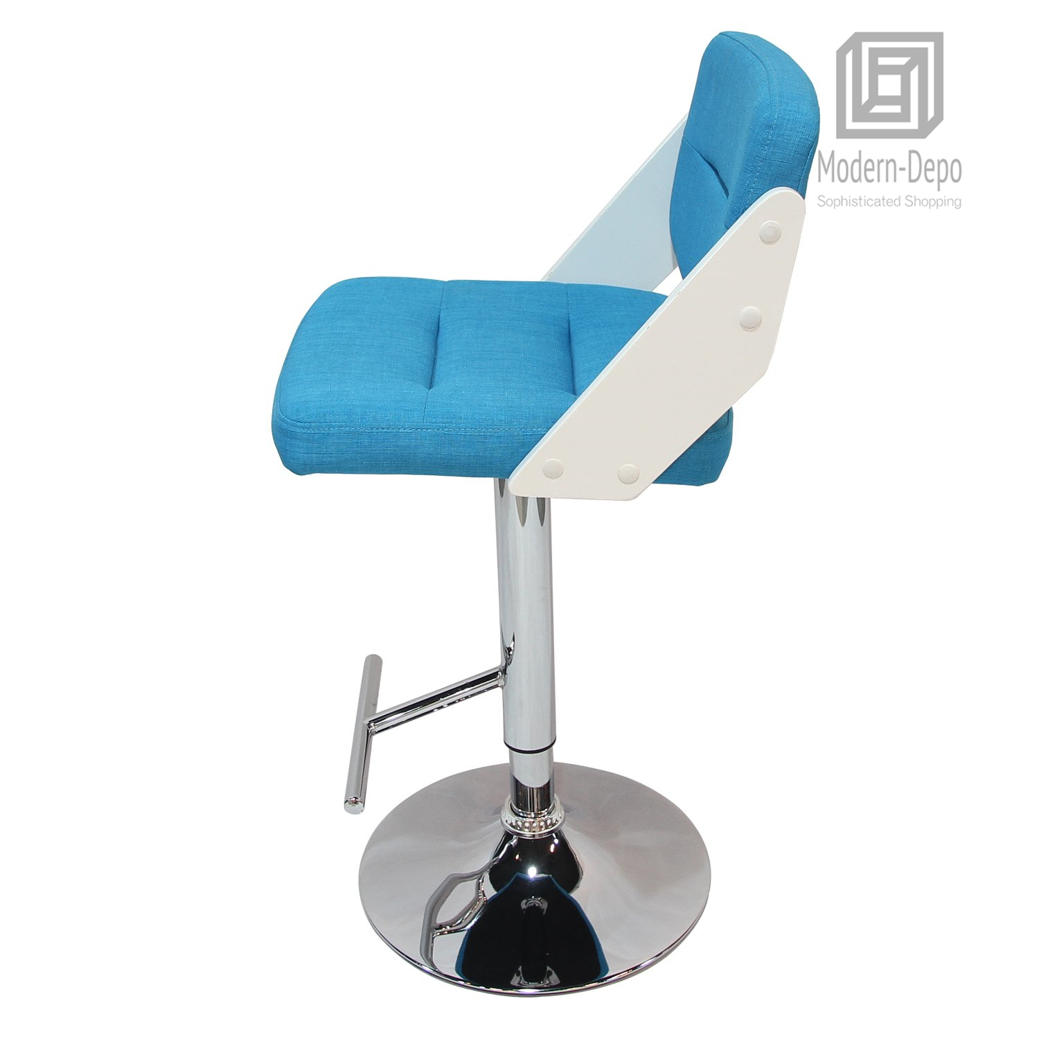 Admirable Details About Adjustable Height Counter Stool Barstool Fabric Chrome Finish Pedestal Base Cjindustries Chair Design For Home Cjindustriesco