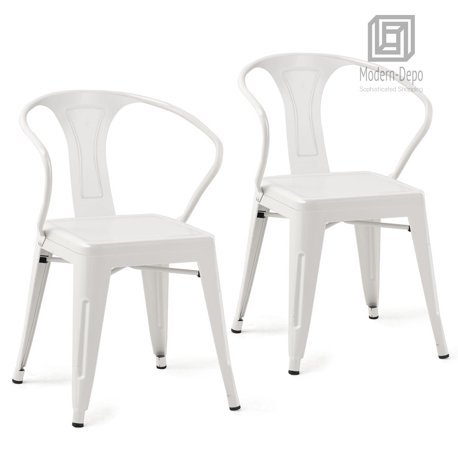 Details About Metal Stackable Chairs Industrial Chic Dining Bistro Cafe Side Chairs Set Of 2