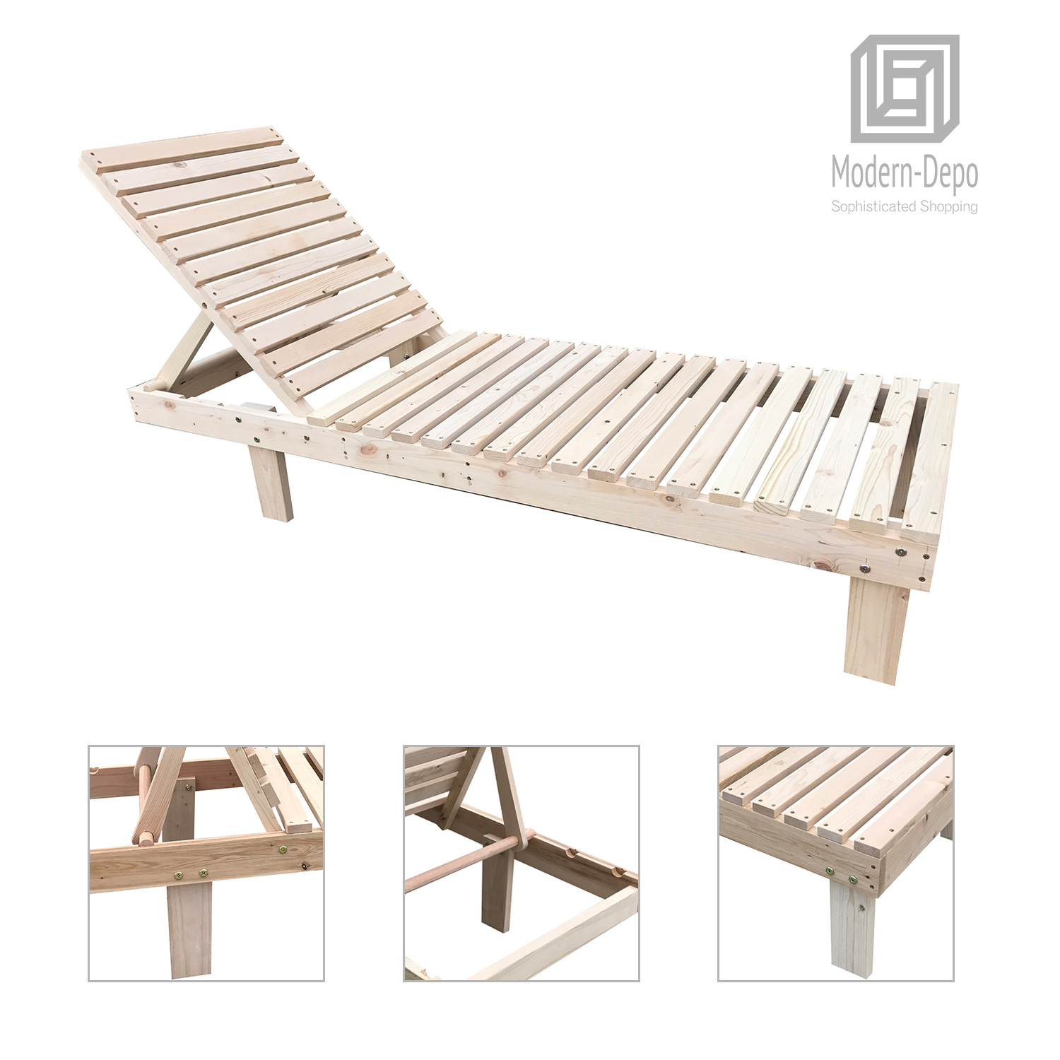 Marvelous Details About Patio Spa Pool Wooden Chaise Lounge Adjustable Chair Outdoor Garden Furniture Pabps2019 Chair Design Images Pabps2019Com