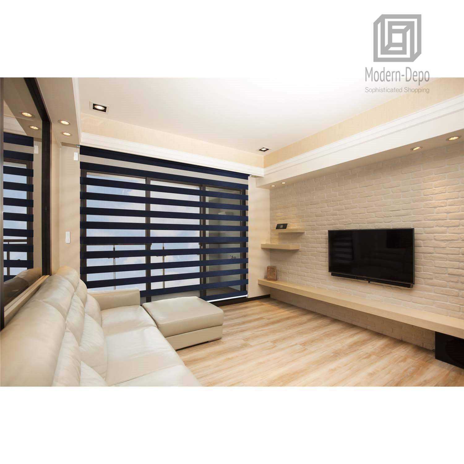 Details About Zebra Design Roller Window Shades Motorized Remote Privacy Horizontal Blinds