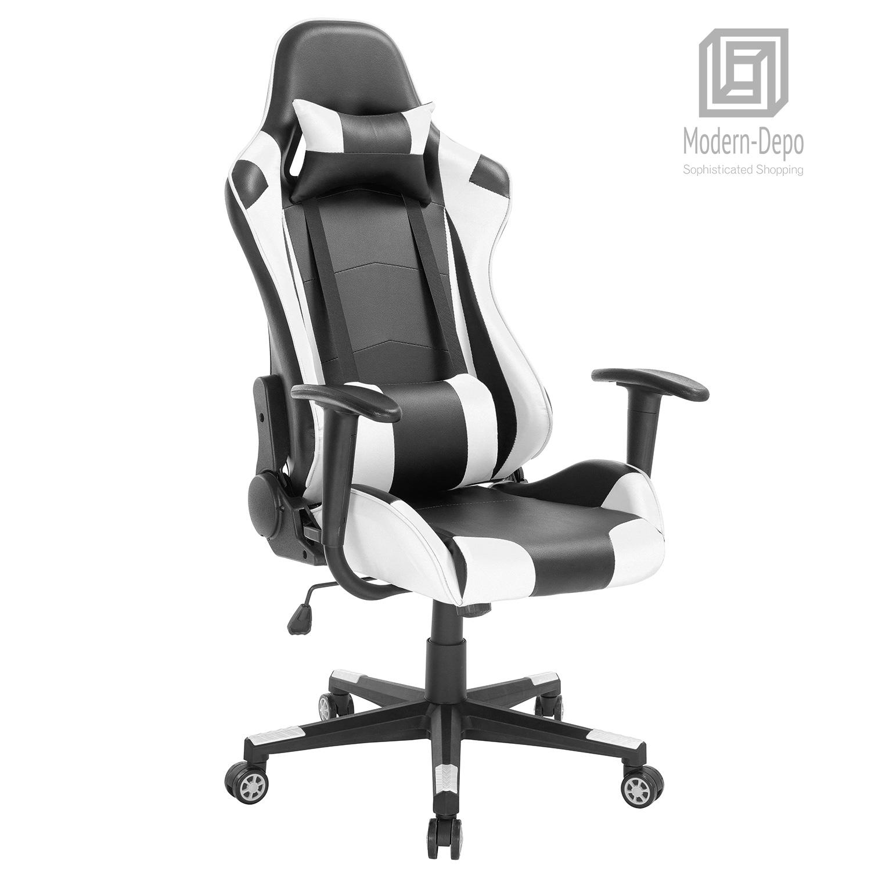 Awe Inspiring Details About High Back Swivel Gaming Chair Black White Racing Ergonomic Office Desk Chair Uwap Interior Chair Design Uwaporg