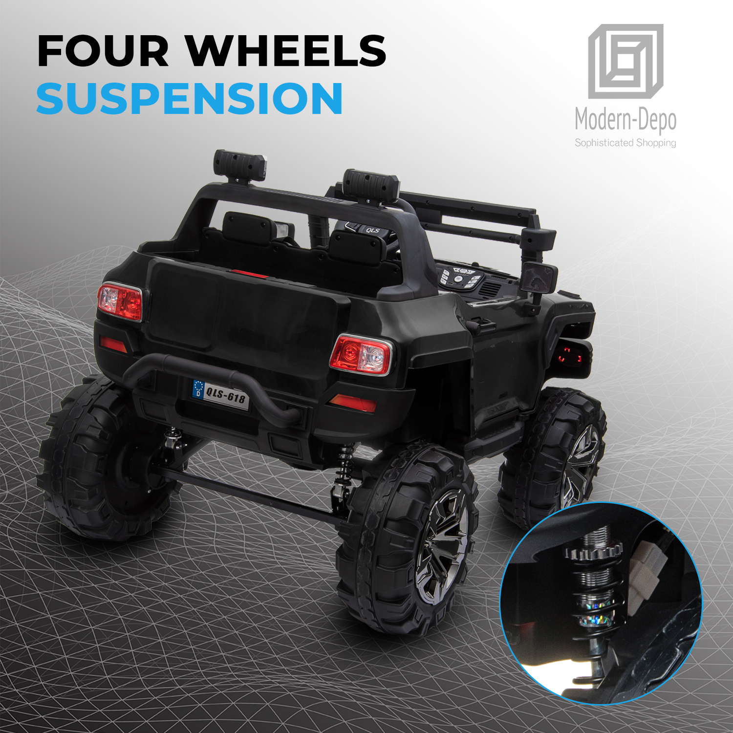 2-Seaters-4-4-Off-Road-Electric-12V-Ride-on-Car-with-Remote-Control miniature 15