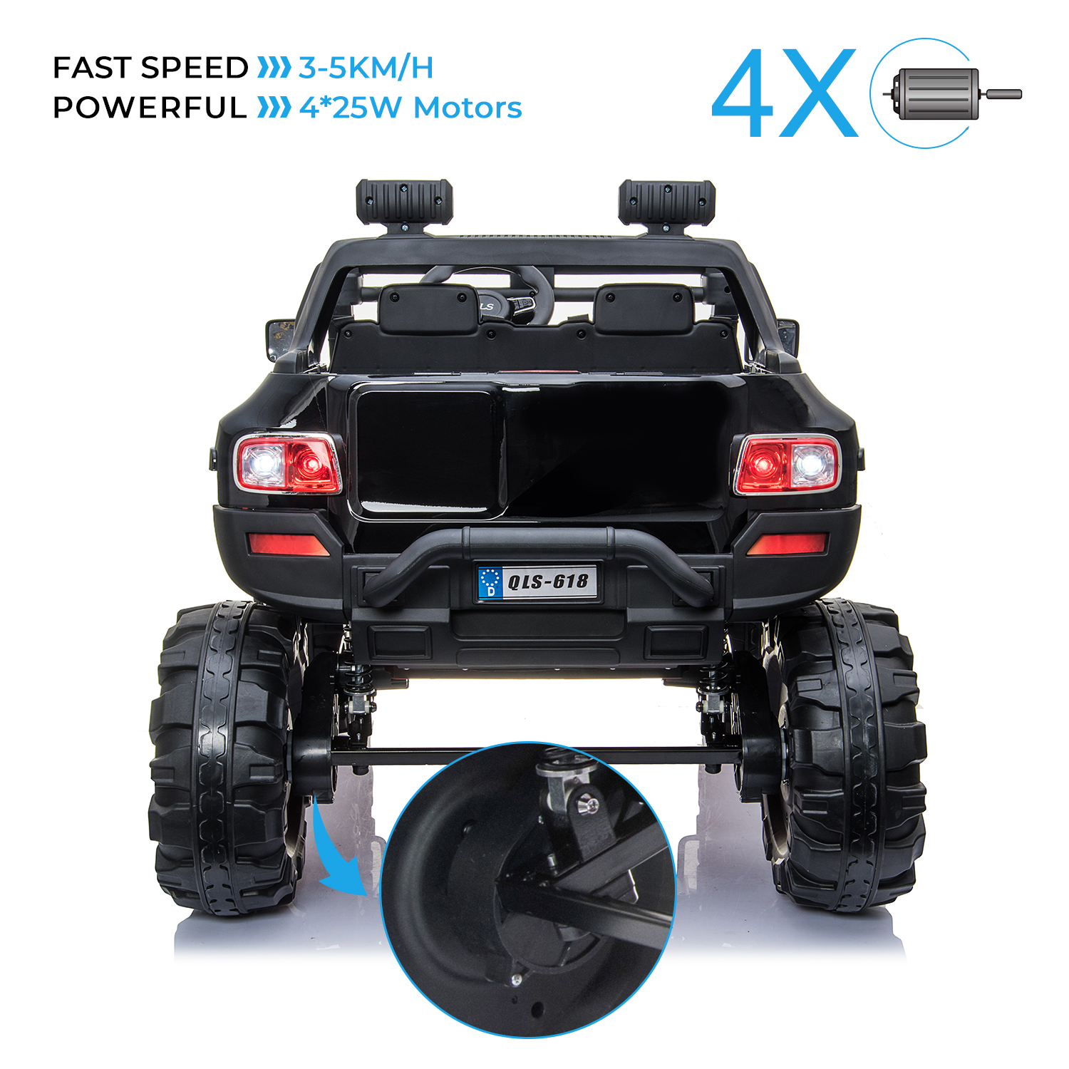2-Seaters-4-4-Off-Road-Electric-12V-Ride-on-Car-with-Remote-Control miniature 12